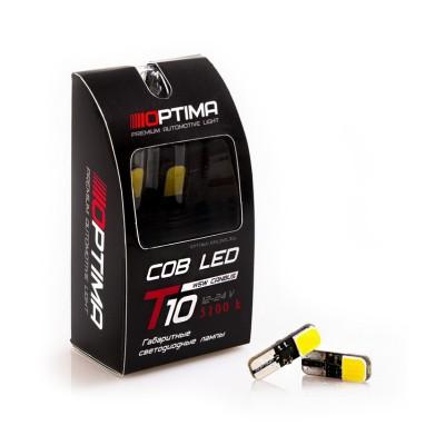 Светодиодные лампы Optima Premium W5W COB CAN BUS 3W 12V 5100К