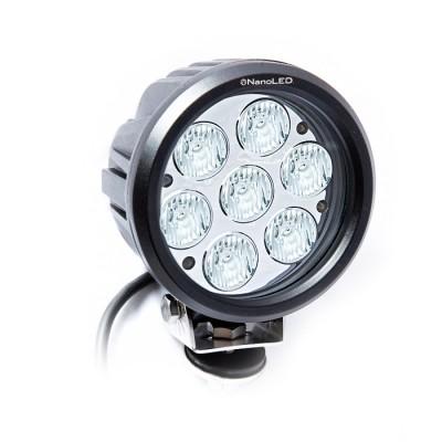 Фара светодиодная NANOLED NL-1570E, 70W, круглая, 7 LED CREE X-MLT6, Euro, (ближний свет)