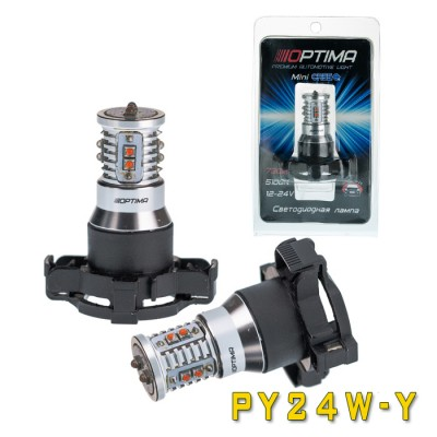 Светодиодная лампа Optima Premium OP-PY24W-Y MINI CREE XB-D CAN 50W YELLOW 12-24V (жёлтая)