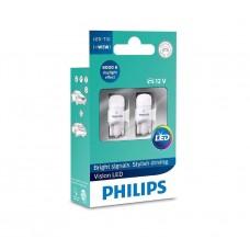 Светодиодные лампы Philips Vision LED W5W 6000K, с линзой 360, LED 1W, 2 шт (127916000KX2)