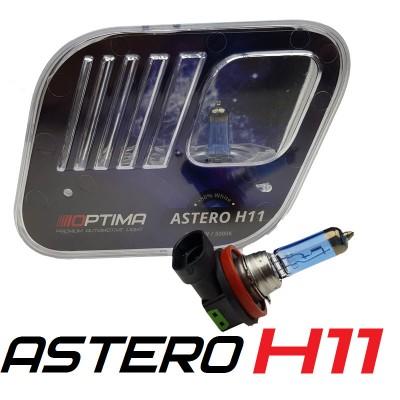 Галогенные лампы Optima Astero H11 +80% White 5000K