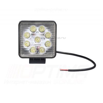 Фара светодиодная 27W, 9 LED - рабочий свет (заливающий свет)