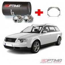 Комплект для замены линз Audi A6 (C5) (1998-2004) на cветодиодные Optima Professional