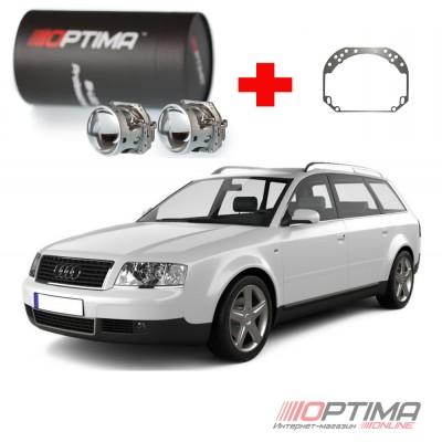 Комплект для замены линз Audi A6 (C5) (1998-2004) на светодиодные Optima Professional