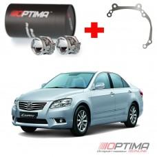 Набор для замены штатных линз Toyota Camry V40 рестайлинг 2009-2011 на Biled Optima Professional