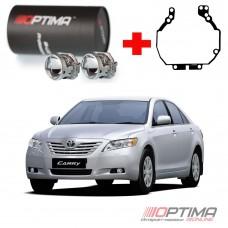 Набор для замены штатных линз Toyota Camry V40 дорестайл 2006-2009 на Biled Optima Professional
