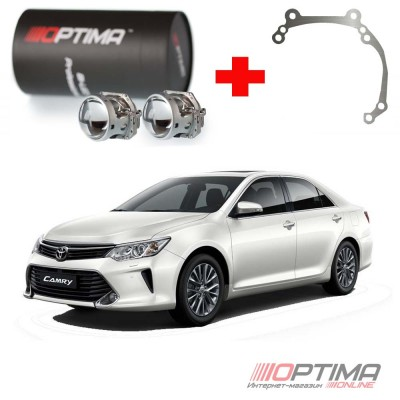 Набор для замены штатных линз Toyota Camry V50  2011-2014 на Biled Optima Professional