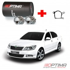 "Набор для замены штатных линз Skoda Octavia II (A5) рестайл (2008-2013) на Bi-LED Professional Series 3.0"" / Optima 5R/5R-TQ (Hella 3) / Optima Q5 3.0"" вместо штатных модулей"