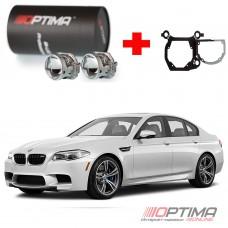 """Набор для замены штатных линз BMW 5-Series IV дорестайлинг (F10) (2009-2013) на Bi-LED Professional Series 3.0"""" / Optima 5R/5R-TQ (Hella 3) в дополнительную секцию фары вместо фальш-линзы"""