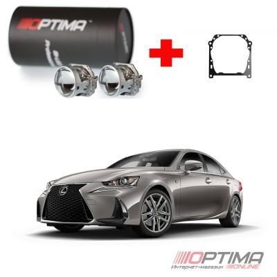 Набор для замены штатных линз Lexus IS 2013-н.в на Biled Optima Professional
