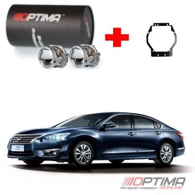 Набор для замены штатных линз Nissan Teana 3 (2014+) на Biled Optima Professional