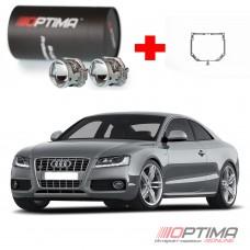 Комплект для замены линз Audi A5 (2007-2011) с адаптивной системой освещения AFL на cветодиодные Optima Professional
