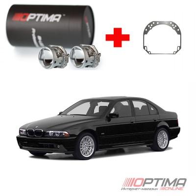 Набор для замены штатных линз BMW 5-series IV (E39) рестайл (2000-2003) на Biled Optima Professional