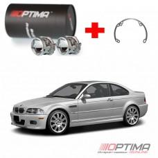 Набор для замены штатных линз BMW E46 на Biled Optima Professional