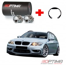 Набор для замены штатных линз BMW 3-Series IV Е46 рестайл (2001 - 2007) на Biled Optima Professional