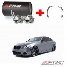 Набор для замены штатных линз BMW 5-Series VI Без адаптива (No AFL) (F11, F10) (2010-2013) на Biled Optima Professional