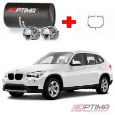 Набор для замены штатных линз BMW X1 AFL (2007-2011) на Biled Optima Professional