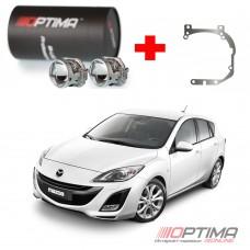 Набор для замены штатных линз Mazda 3 II (BL) дорестайл и рестайл (2009-2013) на Biled Optima Professional