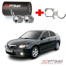 Набор для замены штатных линз Mazda 3 I (BK) (2003-2009) на Biled Optima Professional