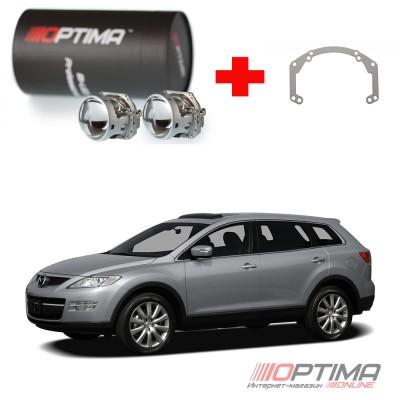 Набор для замены штатных линз Mazda CX-9 I (TB) доерстайл и рестайл (2007-2012)на Biled Optima Professional