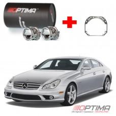 Набор для замены штатных линз Mercedes-Benz CLS-Class I (W219) дорестайл (2004-2010) на Biled Optima Professional