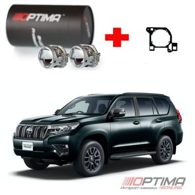 Набор для замены штатных линз Toyota Land Cruiser Prado IV (J150) рестайл (2013-2017) адаптивная система диодного освещения LED AFS на Biled Optima Professional