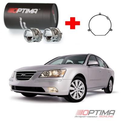Набор для замены штатных линз Hyundai Sonata IV и V (NF) (2004-2012) на Biled Optima Professional