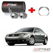 Набор для замены штатных линз Volkswagen Passat B5+ на Biled Optima Professional